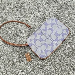 Coach Lilac Purple Signature Wristlet